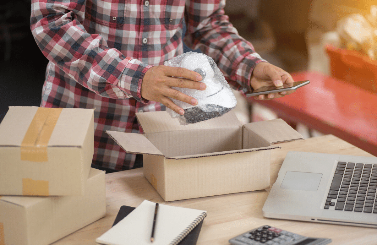 Packaging up an e-commerce order
