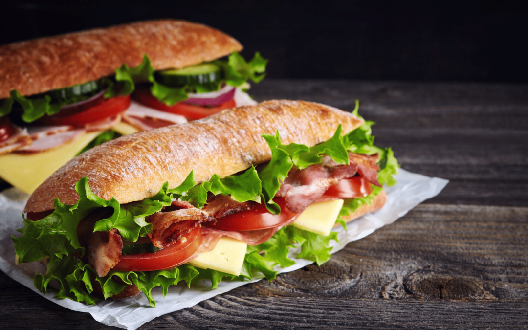 Two submarine sandwiches