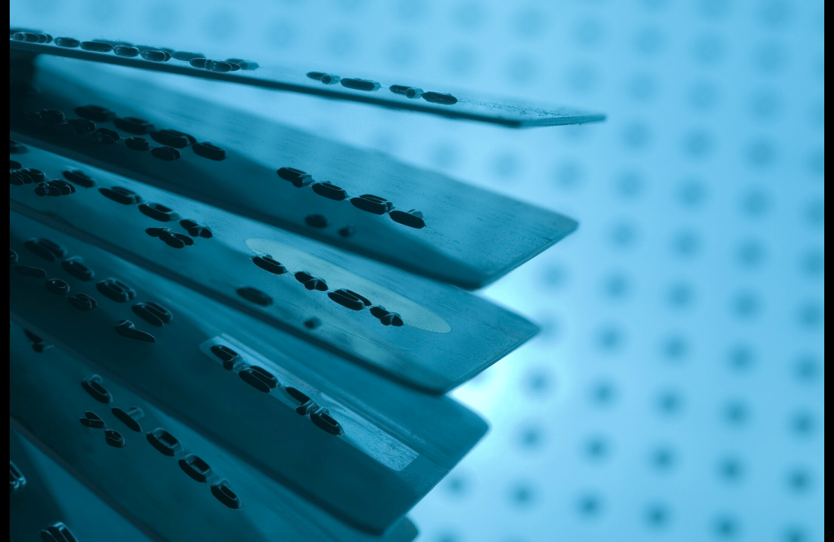 Abstract blue credit card photo